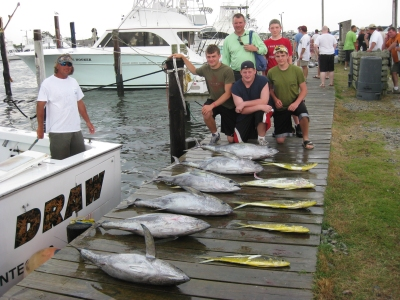 Full draw charters outer banks north carolina fishing for Oregon inlet fishing center camera